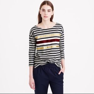 👋🏻 LAST CHANCE Cute gold stripe tee from J Crew!